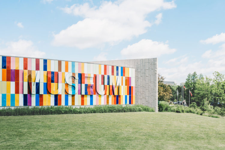 A Colorful Museum Mural