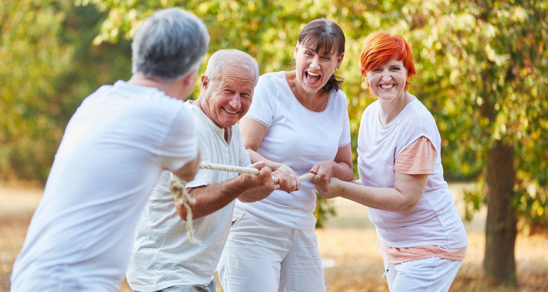 Senioren, DRANBLEIBEN, fit, lustig, beweglich